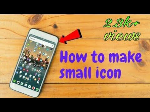 How to to make small icon in android