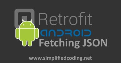 Retrofit Android Example – Fetching JSON from URL