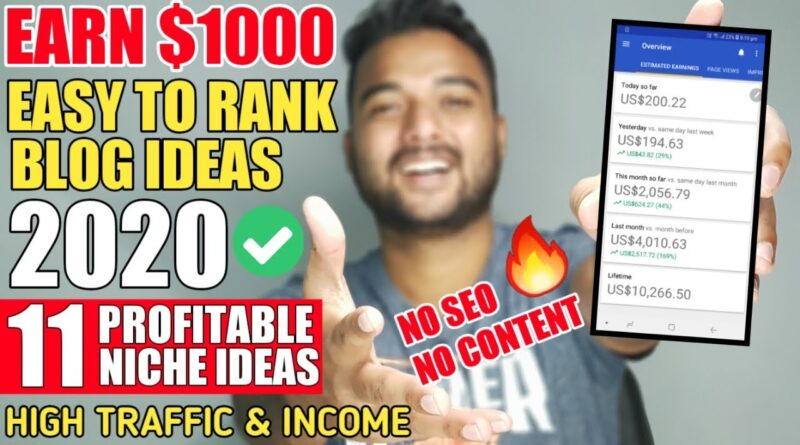 11 Finest Area of interest for Running a blog in 2020 (FRESH BLOGGING IDEAS) 🔥 Get Site visitors & Earn Cash On-line in 2020 5