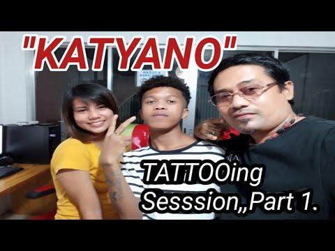 SY blogger ''MARGEL'' ''Katiano'' mariano and Kat, tattoo session.half 1. 5