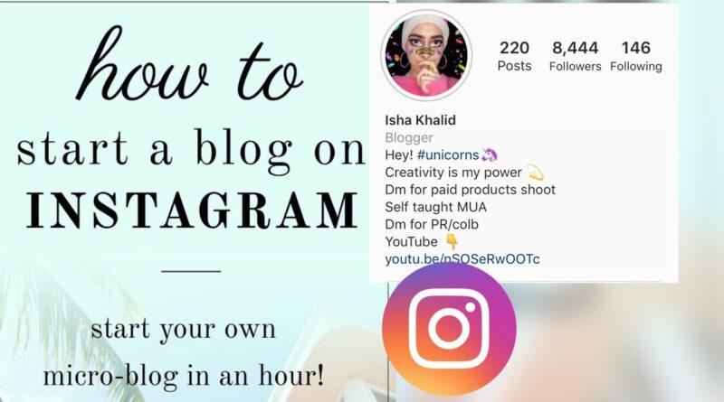 Instagram blogger ( begin running a blog) urdu pakistan ||BLOG sequence part1 5