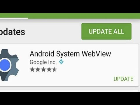 How to solve Android system webview not updating problem