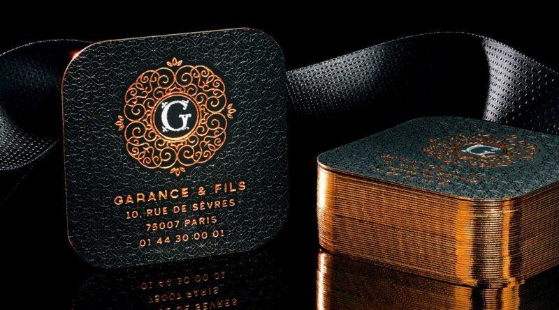 Metallic Foil on Luxurious Black Business Cards!