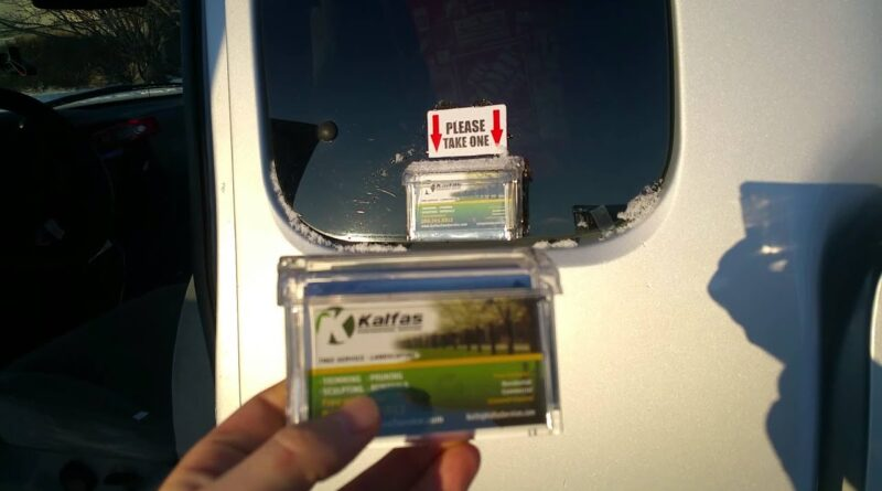 Outdoor Vehicle Business Card Holder - Marketing TIP