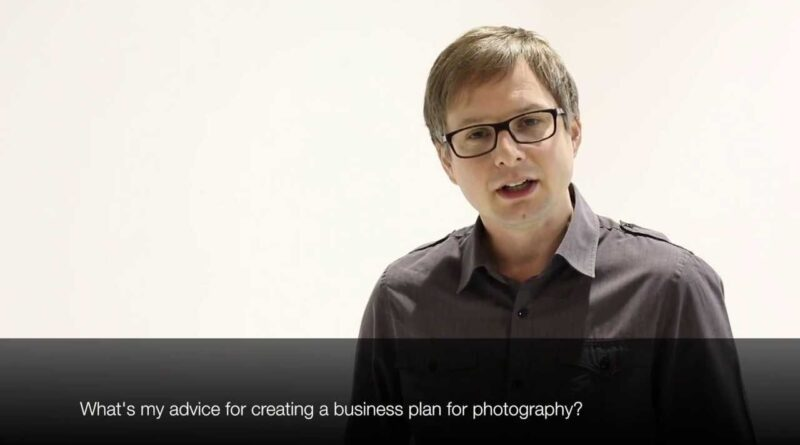 Photographer video blog - advice for a photography business plan