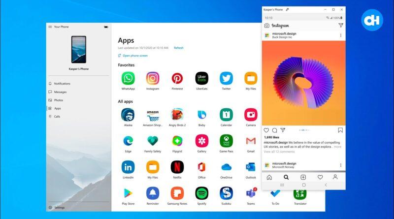 Windows 10 vai rodar aplicativos do Android no App Seu Telefone