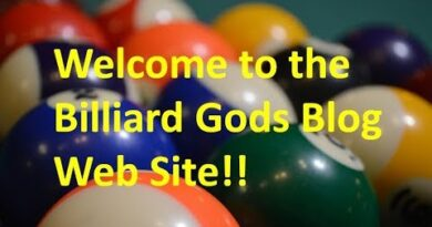 Introduction to the Billiard Gods Weblog website at www.billiardgods.com