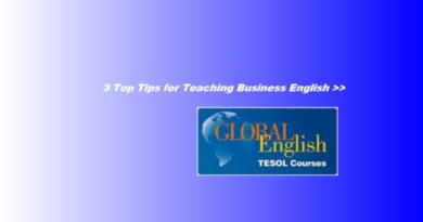 3 Tips for Teaching Business English http://www.global-english.com