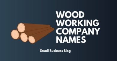 Best Wood Working Business Names