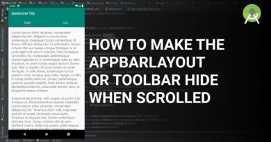 How to make the AppBarLayout or Toolbar hide when scrolled
